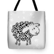 Sheep Black Star Tote Bag
