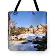 Sheep Farm In Winter Tote Bag