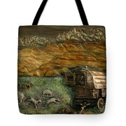 Sheep Herder's Wagon From Snowy Range Life Tote Bag