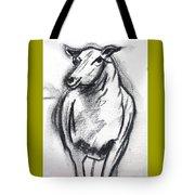 Sheep In Charcoal  Tote Bag
