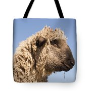 Sheep In Profile Tote Bag