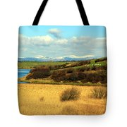 Sheep On The Hillside Tote Bag