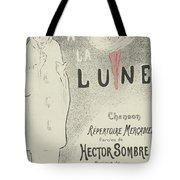 Sheet Music Aubade A La Lune Tote Bag
