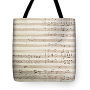 Sheet Music For The Barber Of Seville By Rossini  Tote Bag