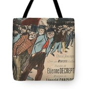 Sheet Music Le Roi Misere By Etienne Decrept And Leopold Gangloff, Performed By Mevisto Theophile Al Tote Bag