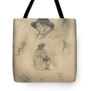 Sheet Of Sketches Tote Bag