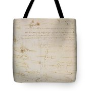 Sheet Of Studies Of Foot Soldiers And Horsemen In Combat, And Halbards Tote Bag