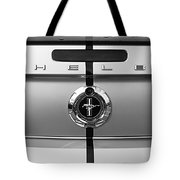Shelby Ford Mustang Trunk Lid And Badge In Black And White Tote Bag