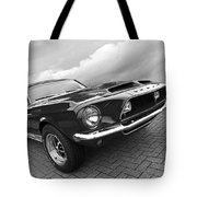 Shelby Gt500kr 1968 In Black And White Tote Bag