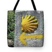 Shell And Arrow Marker, El Camino, Spain Tote Bag