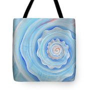 Shell Coral Blue Tote Bag
