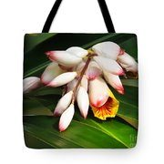 Shell Ginger Flowers Tote Bag