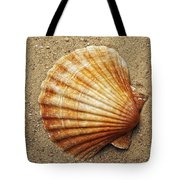 Shell On The Sand Tote Bag