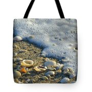 Shells And Seafoam Tote Bag
