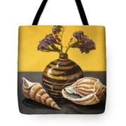 Shells And Stripes Tote Bag