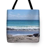Shells On The Beach Tote Bag