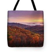 Shenandoah Autumn Sunrise Tote Bag