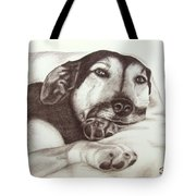 Shepherd Dog Frieda Tote Bag
