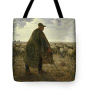 Shepherd Tending His Flock Tote Bag