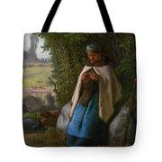 Shepherdess Seated On A Rock Tote Bag