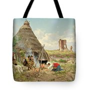 Shepherds Resting In The Roman Campagna Tote Bag