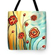 Sherbert And Powder Blue Skies Tote Bag