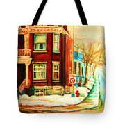Sherbrooke In Winter Tote Bag