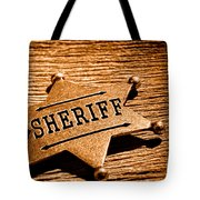 Sheriff Badge - Sepia Tote Bag