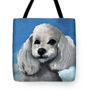Sherman - Poodle Pet Portrait Tote Bag