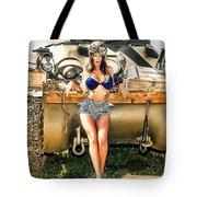 Sherman Tank Pin-up Tote Bag