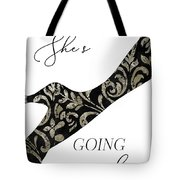 She's Going Places. Tote Bag