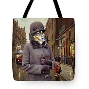 Shetland Sheepdog Art Canvas Print - Charleston Blue Tote Bag