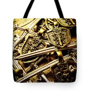 Shields And Swords Weapons Tote Bag