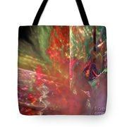 Shimmer Leaves Tote Bag