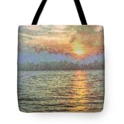 Shimmering Light Over The Water Tote Bag