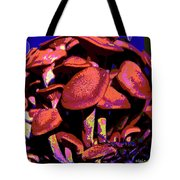 Shimmering Shrooms Tote Bag