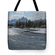 Shimmering Snake River And The Tetons Tote Bag