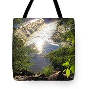 Shimmering Sun Rays On Colorado Springs Tote Bag