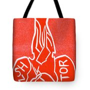 Shin Detonator Upturned Skull Red Tote Bag
