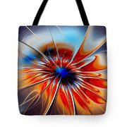 Shining Red Flower Tote Bag