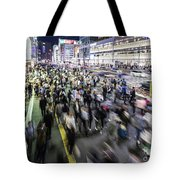 Shinjuku People Rush Tote Bag