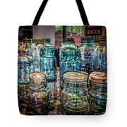 Shiny Glass Jars Tote Bag