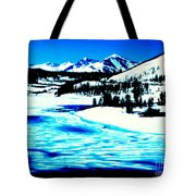 Shiny Snow Magic On Lake Tote Bag