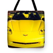 Shiny Yellow Corvette Convertible  Tote Bag