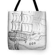 Ship At Sea Tote Bag