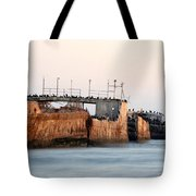 Ship At Seecliff Tote Bag