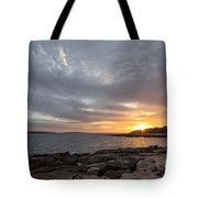 Ship Harbor Tote Bag