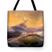 Ship In Trouble H B Tote Bag