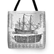 Ship Of War Plans Tote Bag