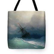 Ship On Stormy Seas Tote Bag